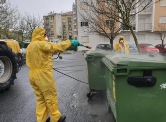 População de Pedra D'Ouro unida na desinfeção das ruas