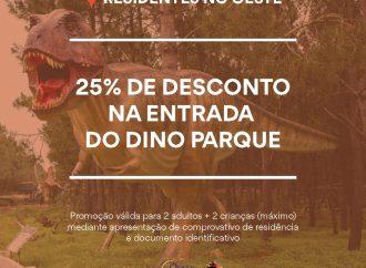 Comunidade Intermunicipal do Oeste e Dino Parque lançam campanha para residentes no Oeste