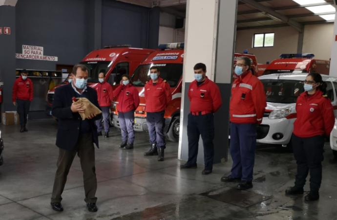Visita de agradecimento às corporações de bombeiros, Cruz Vermelha e forças policiais do concelho